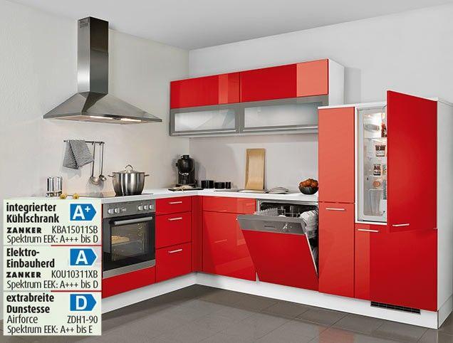 12400013   Marsrot   Weiß   Küchen angebote, Einbauküche, Haus küchen
