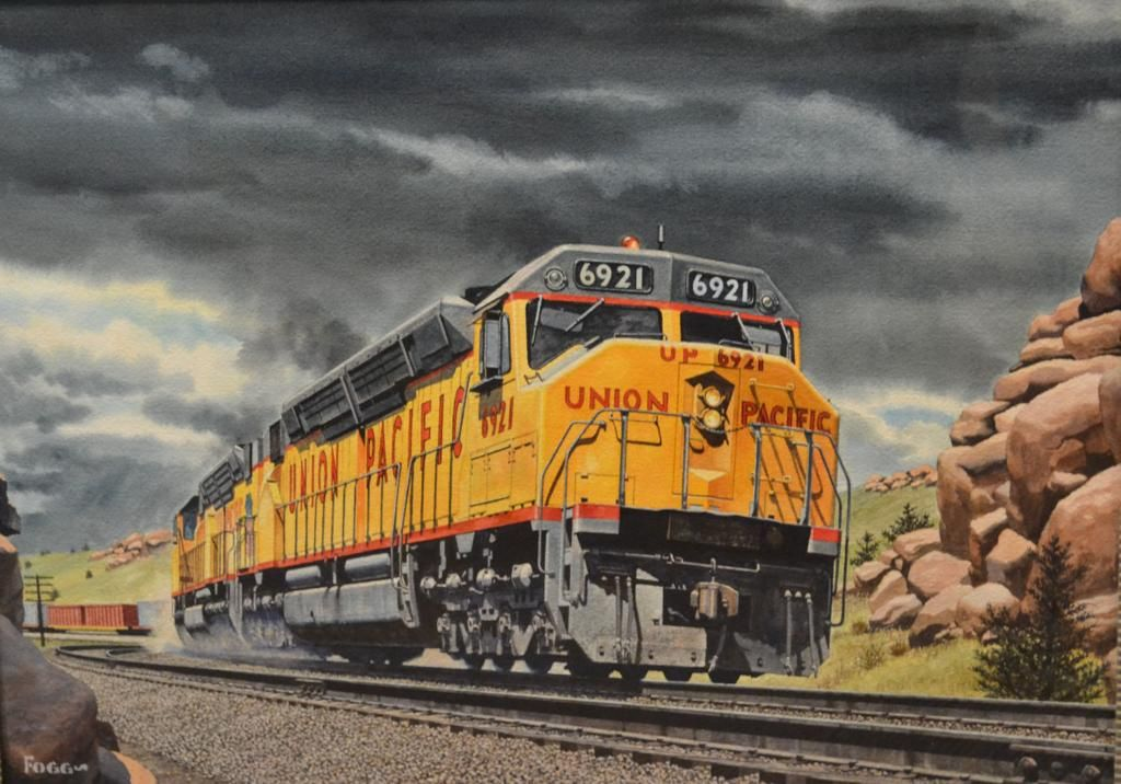 Rare work by prominent railroad artist gets wheels turning