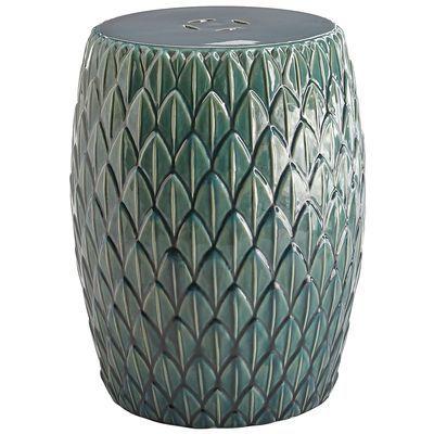 Unique Turquoise Garden Stool Ceramic