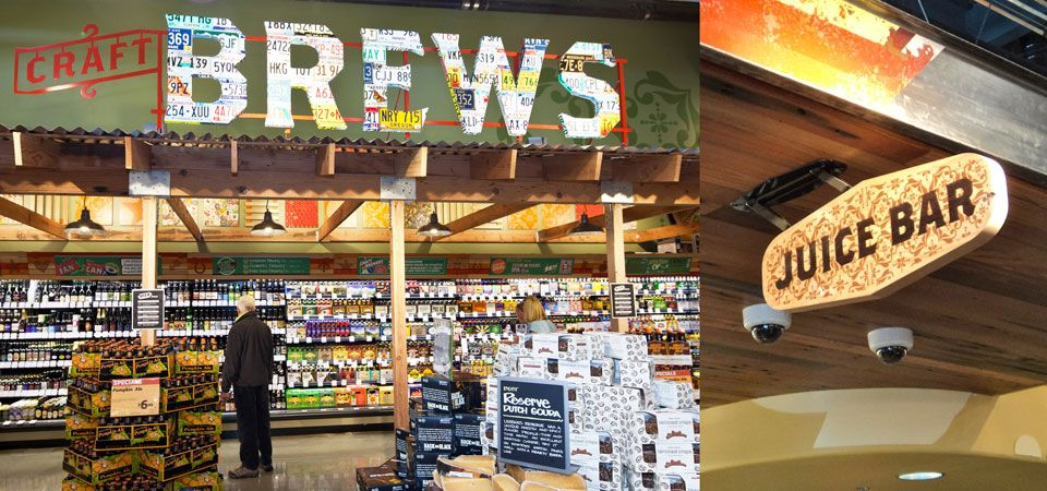 Grocery store design, Whole food