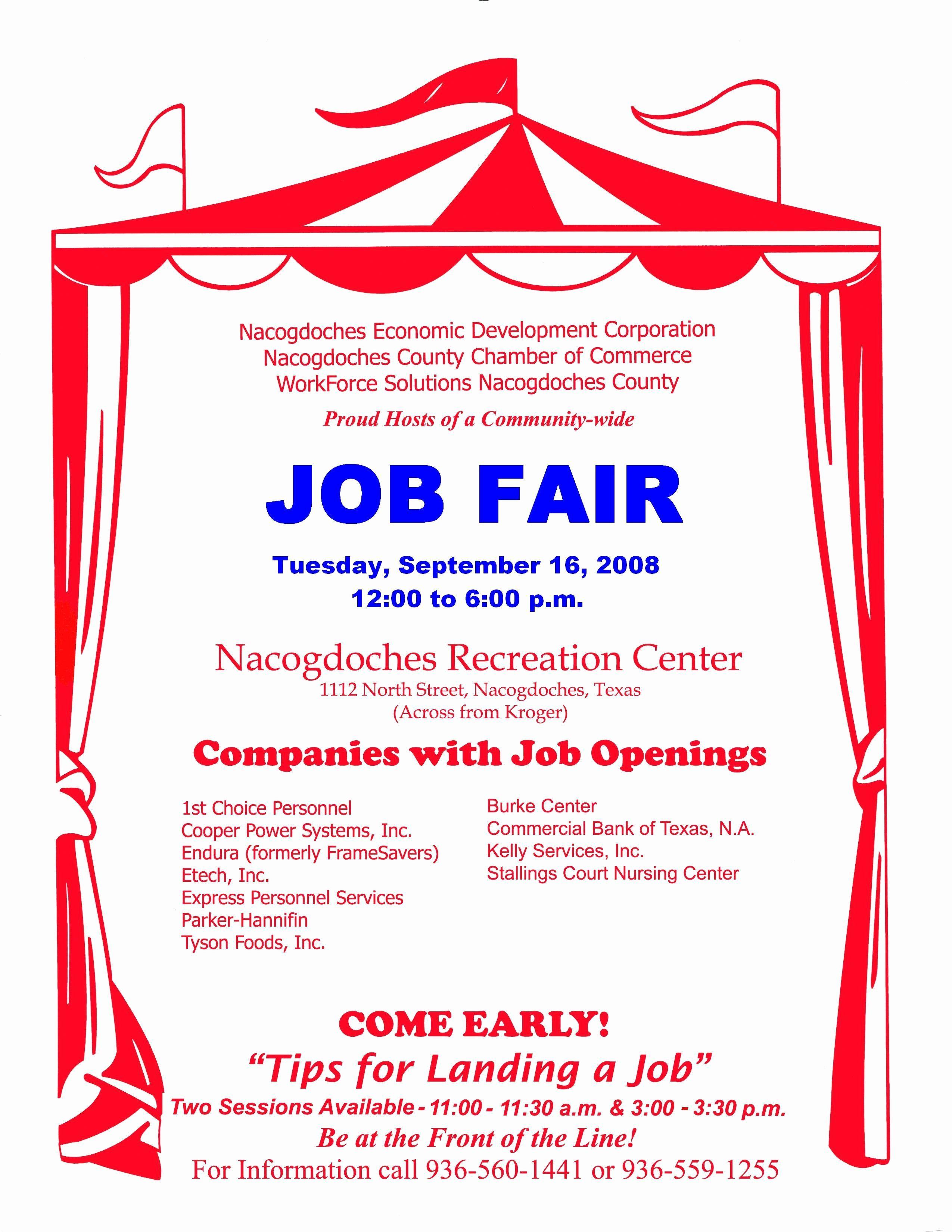 Career Fair Flyer Template Beautiful Job Application