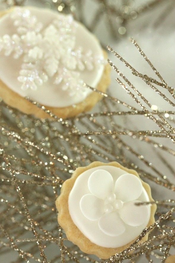white new years decorated cookies