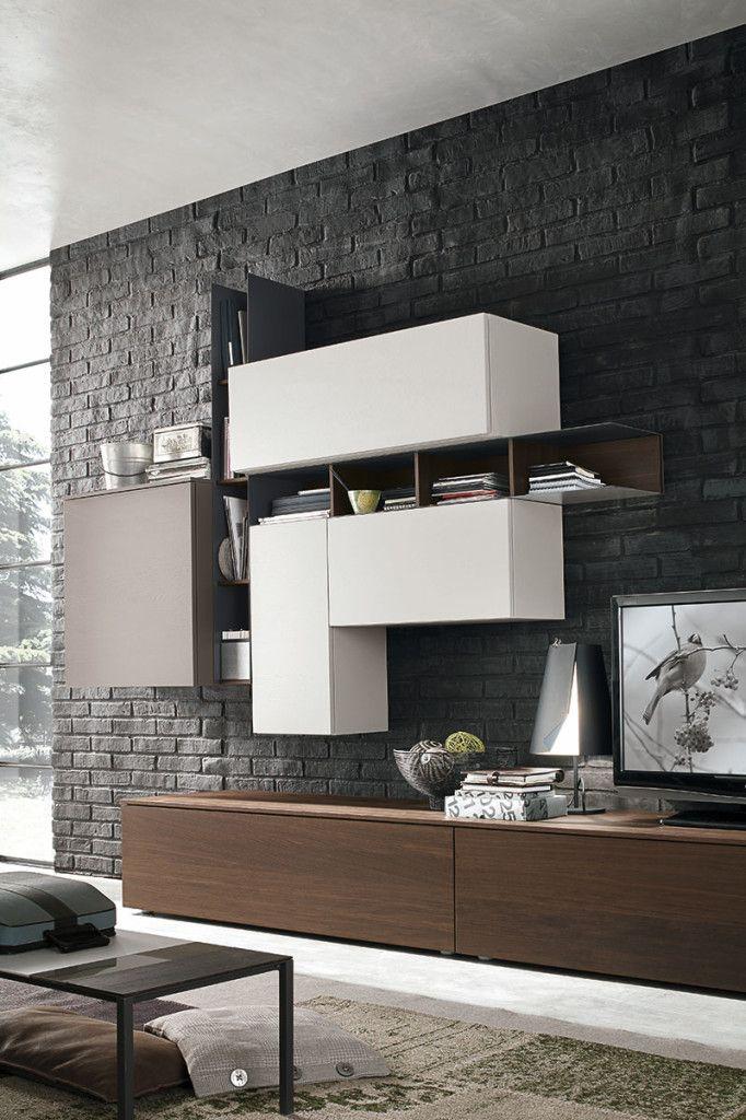 Parete attrezzata per il soggiorno atlante c135 for Parete attrezzata design moderno