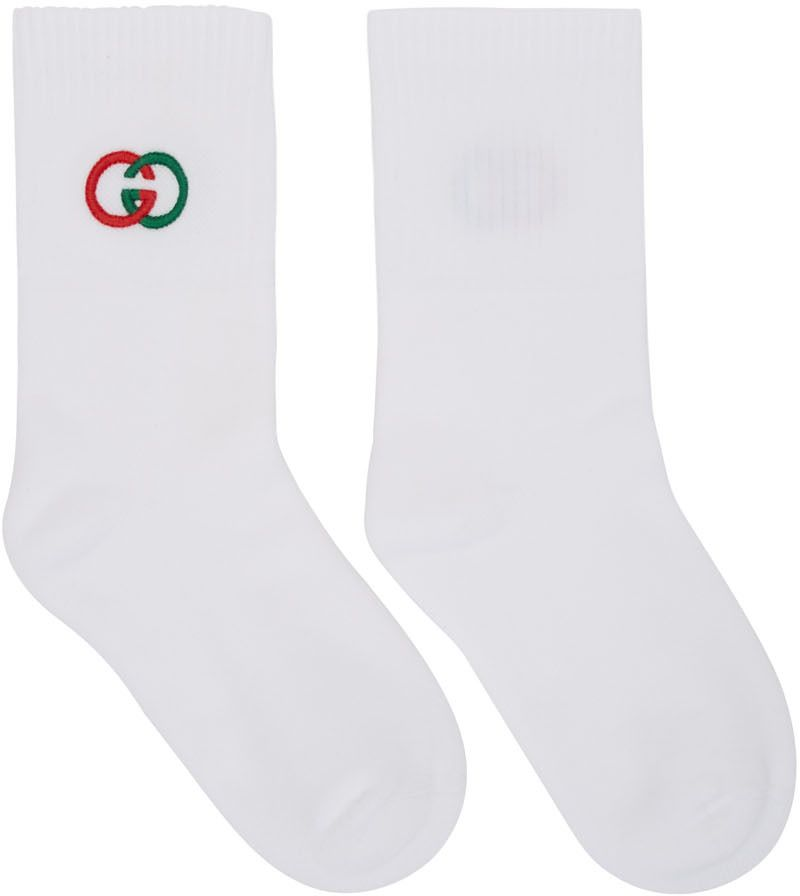 White Interlocking G Tennis Socks In 2020 Tennis Socks Socks Gucci