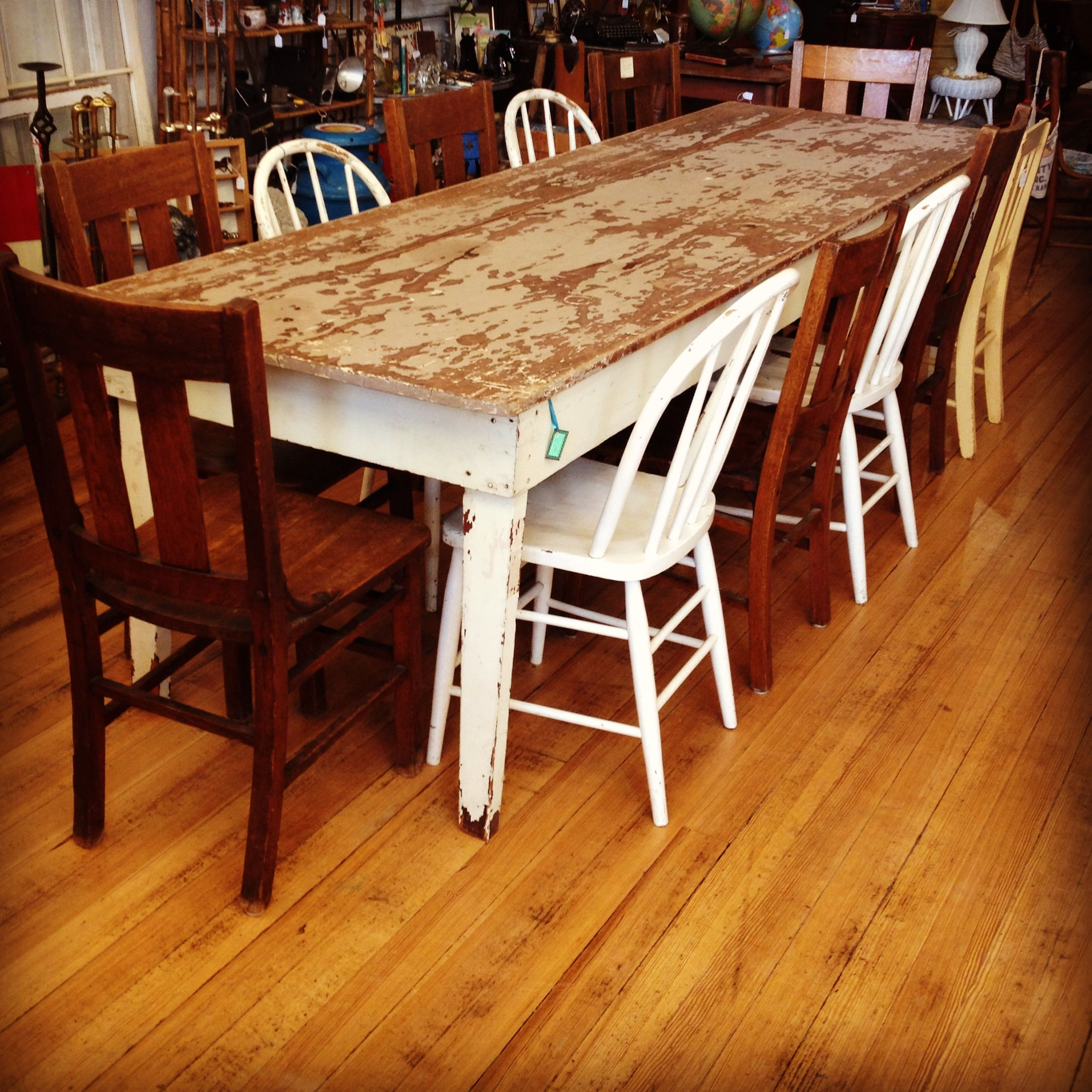 Gorgeous Vintage 12 14 Person Harvest Table
