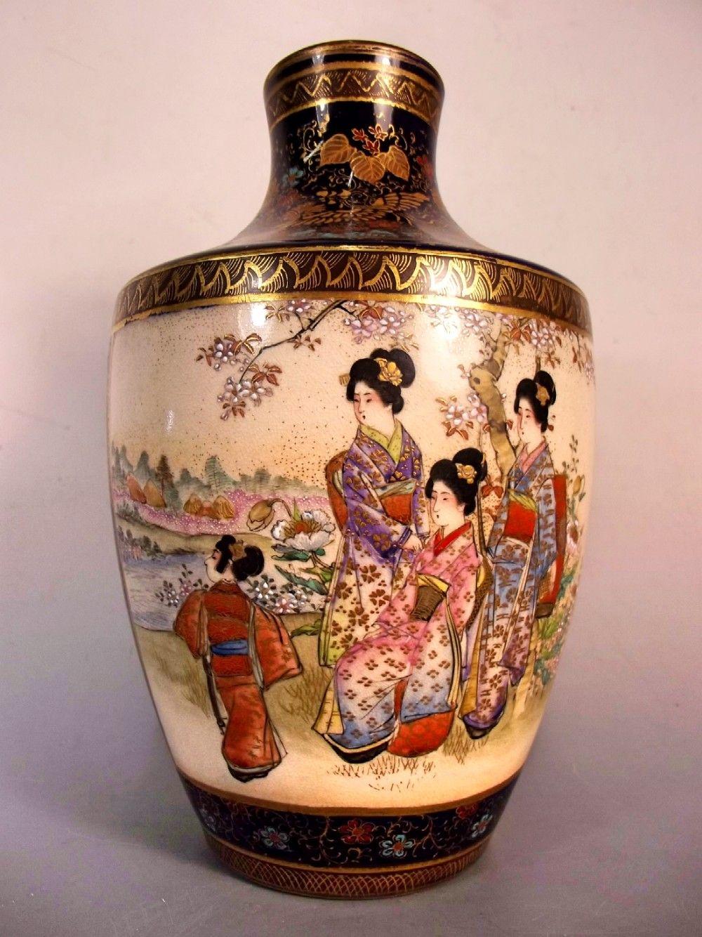 Fine quality 10 inch japanese meiji period satsuma vase the date fine quality 10 inch japanese meiji period satsuma vase the date of manufacture has been reviewsmspy