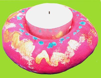 les bougies et les bougeoirs t te modeler fete des. Black Bedroom Furniture Sets. Home Design Ideas
