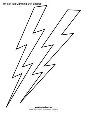 Printable Lightning Bolt Templates Lightning Bolt Bolt Stencils