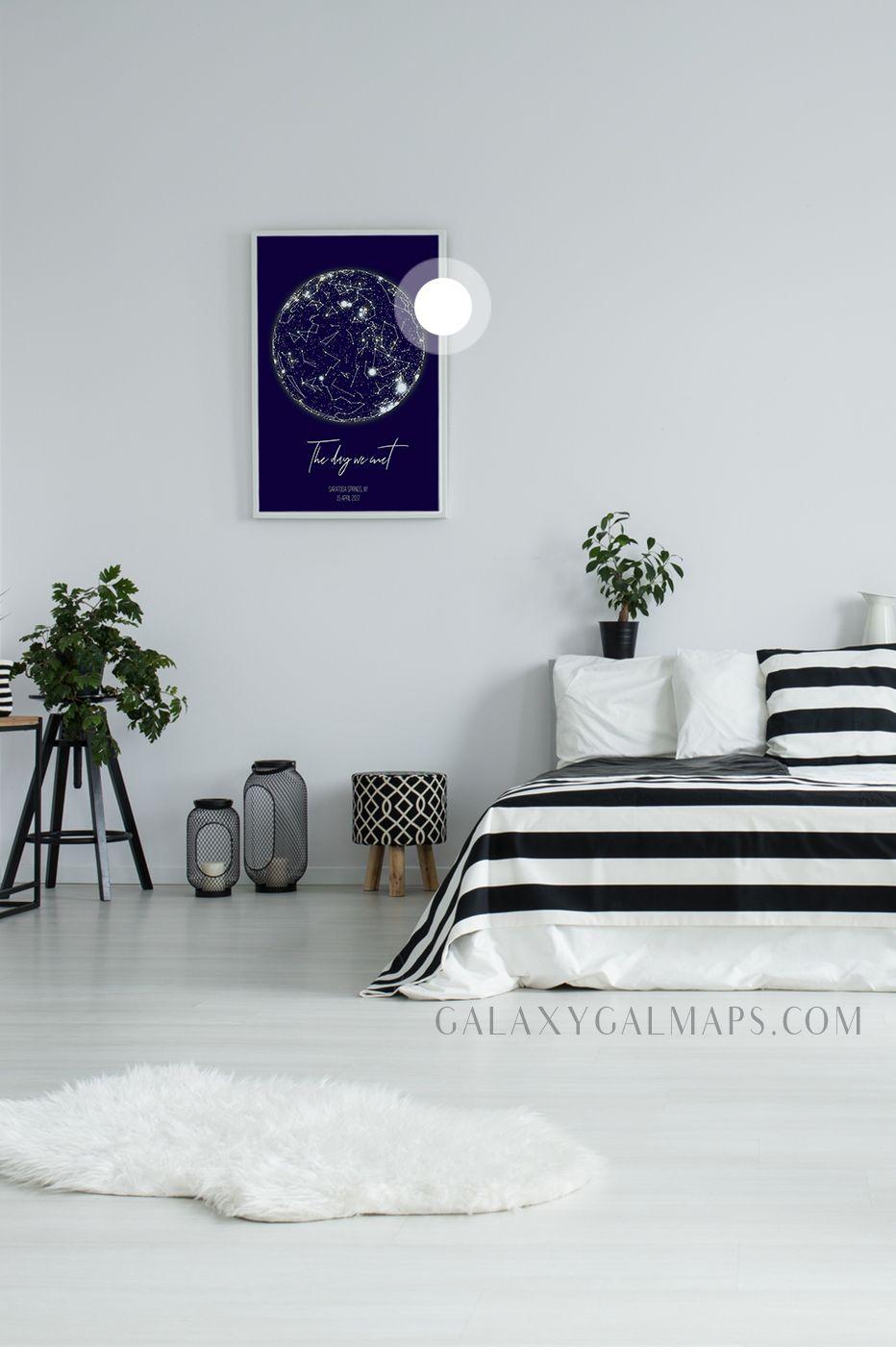 Custom Star Map Galaxy Art Wall Art Home Is Where the Heart Is