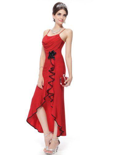 Ever Pretty Fab Stretchy Spaghetti Straps Falbala Flower Formal Gown 80679 $44.99