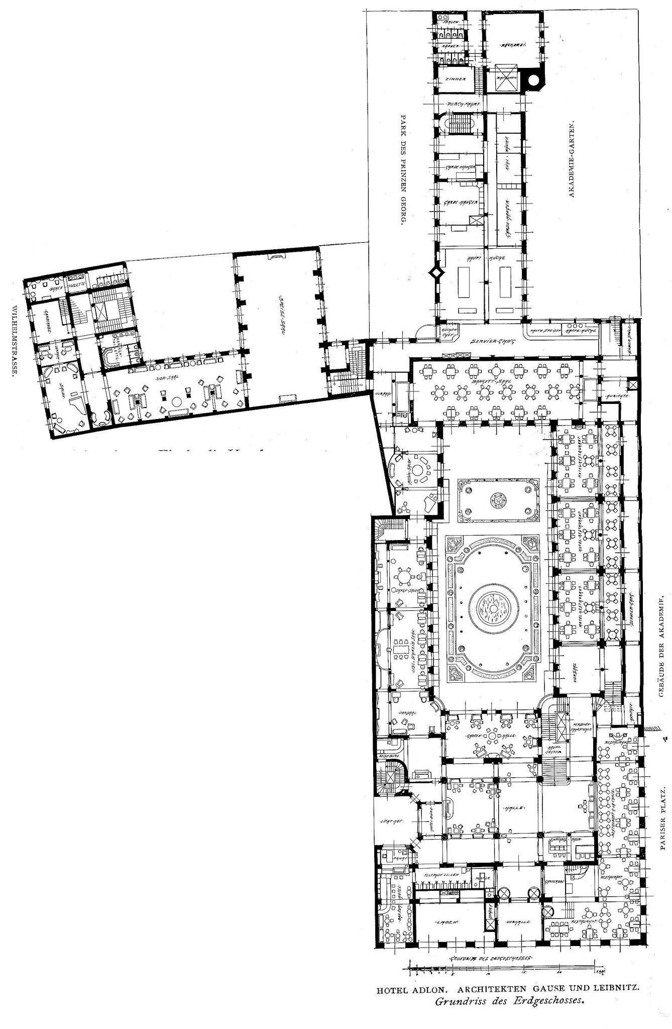 Innendecoration 1908 Berlin Hotel Adlon Plan Berlin Hotel Floor Plan Design Hotel Room Plan