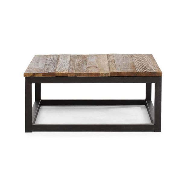 Modern Industrial Square Coffee Table Apartment