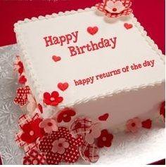 Happy Birthday Cake For Husband Samman Rubab Pinterest Happy