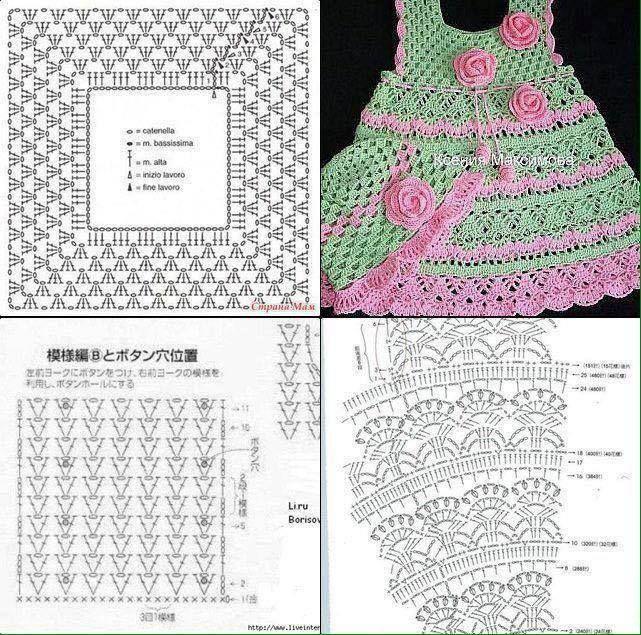 Vestido para niña   Tejidos BEBE   Pinterest   Vestidos para niños ...