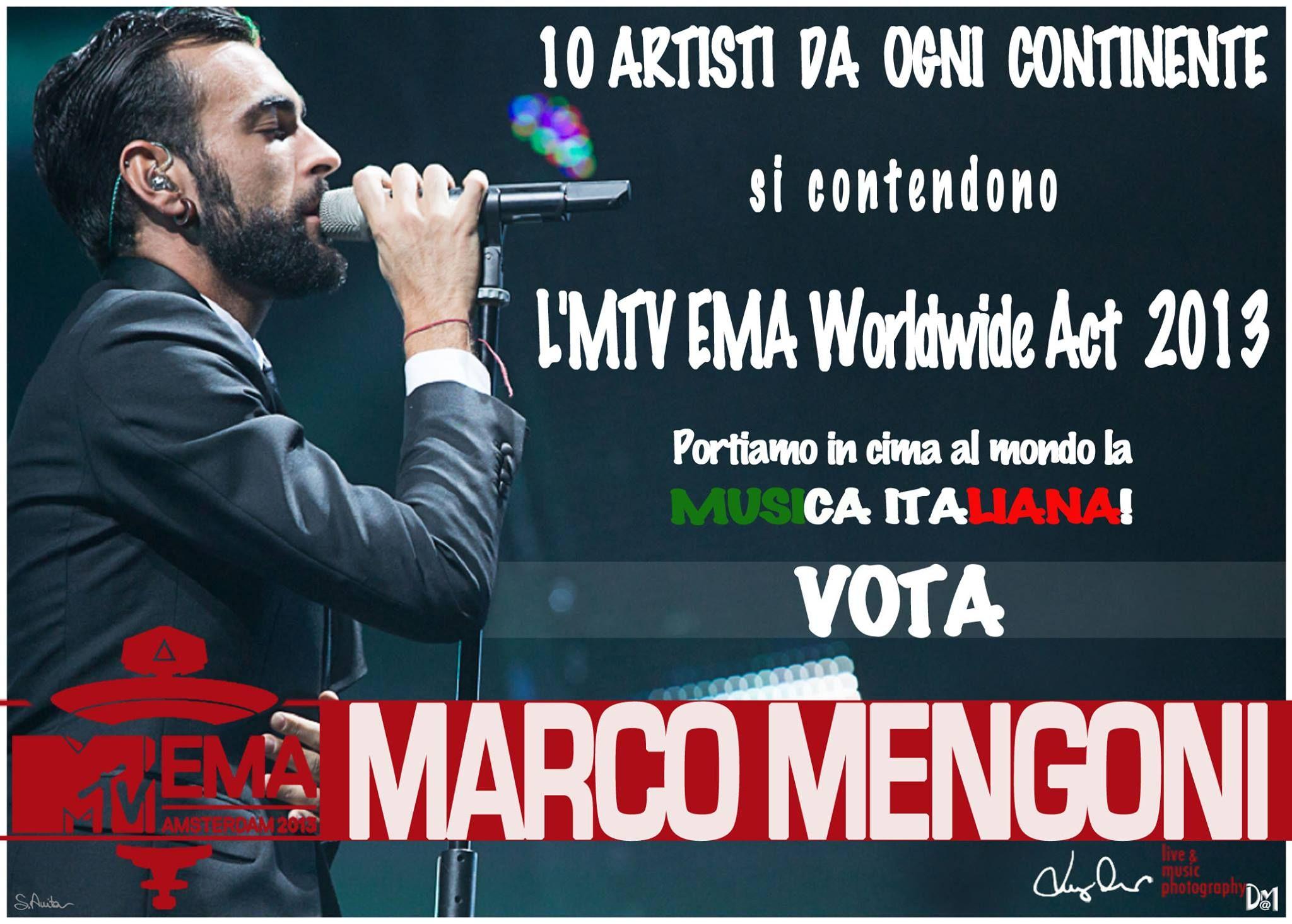 Marco Mengoni agli MTV EMA 2013. VOTATE VOTATE VOTATE fino all'8Novembre per il #WorldwideAct PORTIAMO MARCO AD AMSTERDAM!  Link dove votare qui: http://it.mtvema.com/vota#cat=worldwide-act