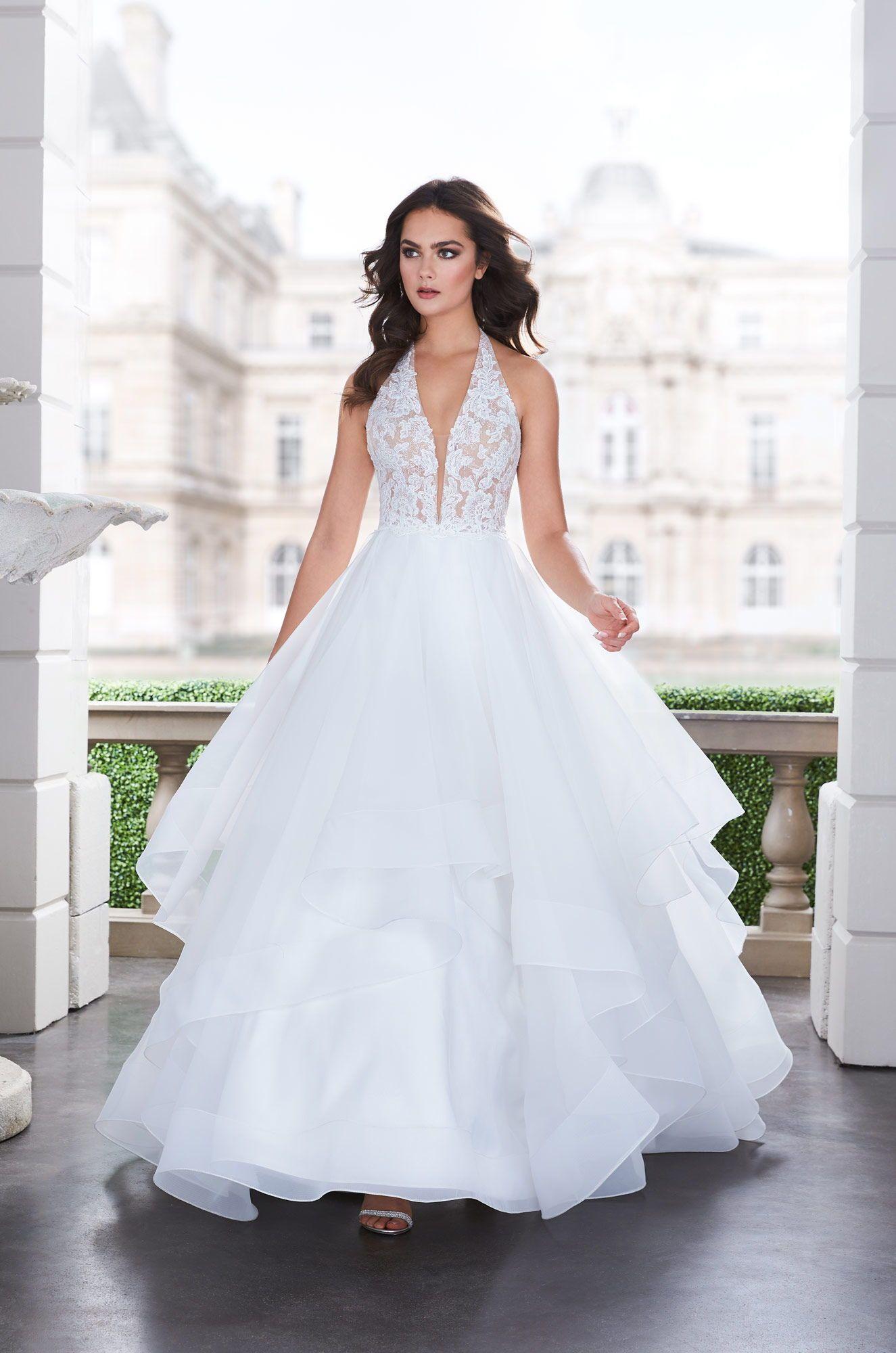 Lavish Ball Gown Wedding Dress - Style #4855 | Alencon