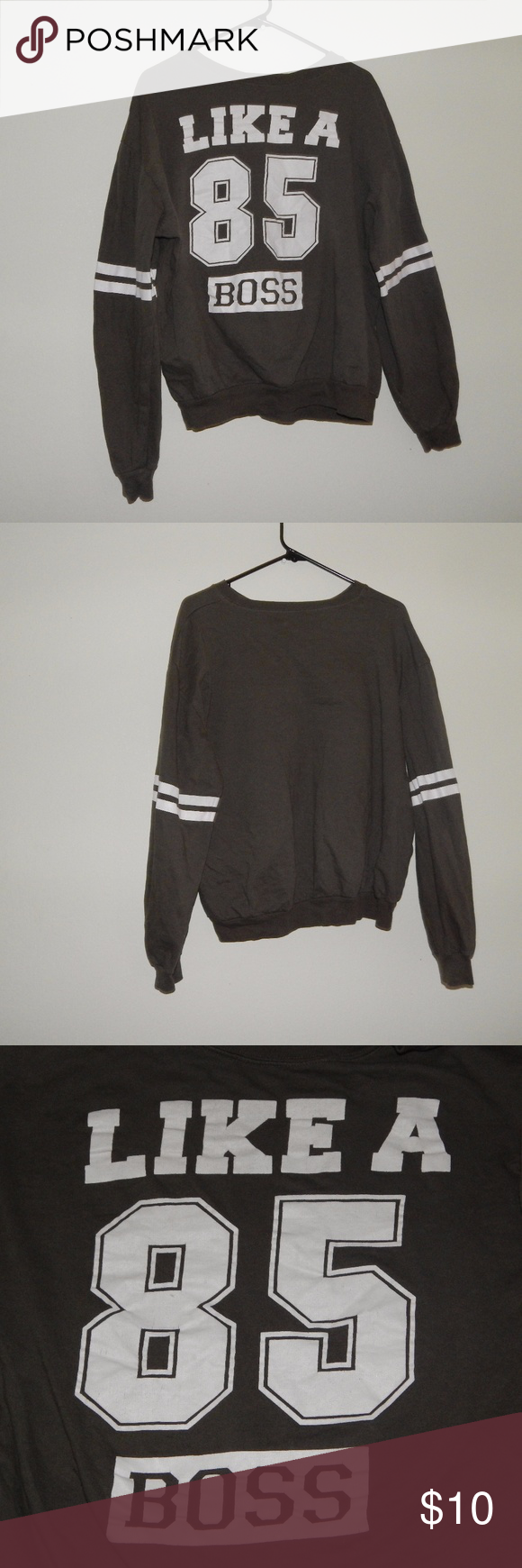 Like A Boss 85 Sweatshirt Olive Green Sweatshirts Clothes Design Sweatshirts Hoodie [ 1740 x 580 Pixel ]