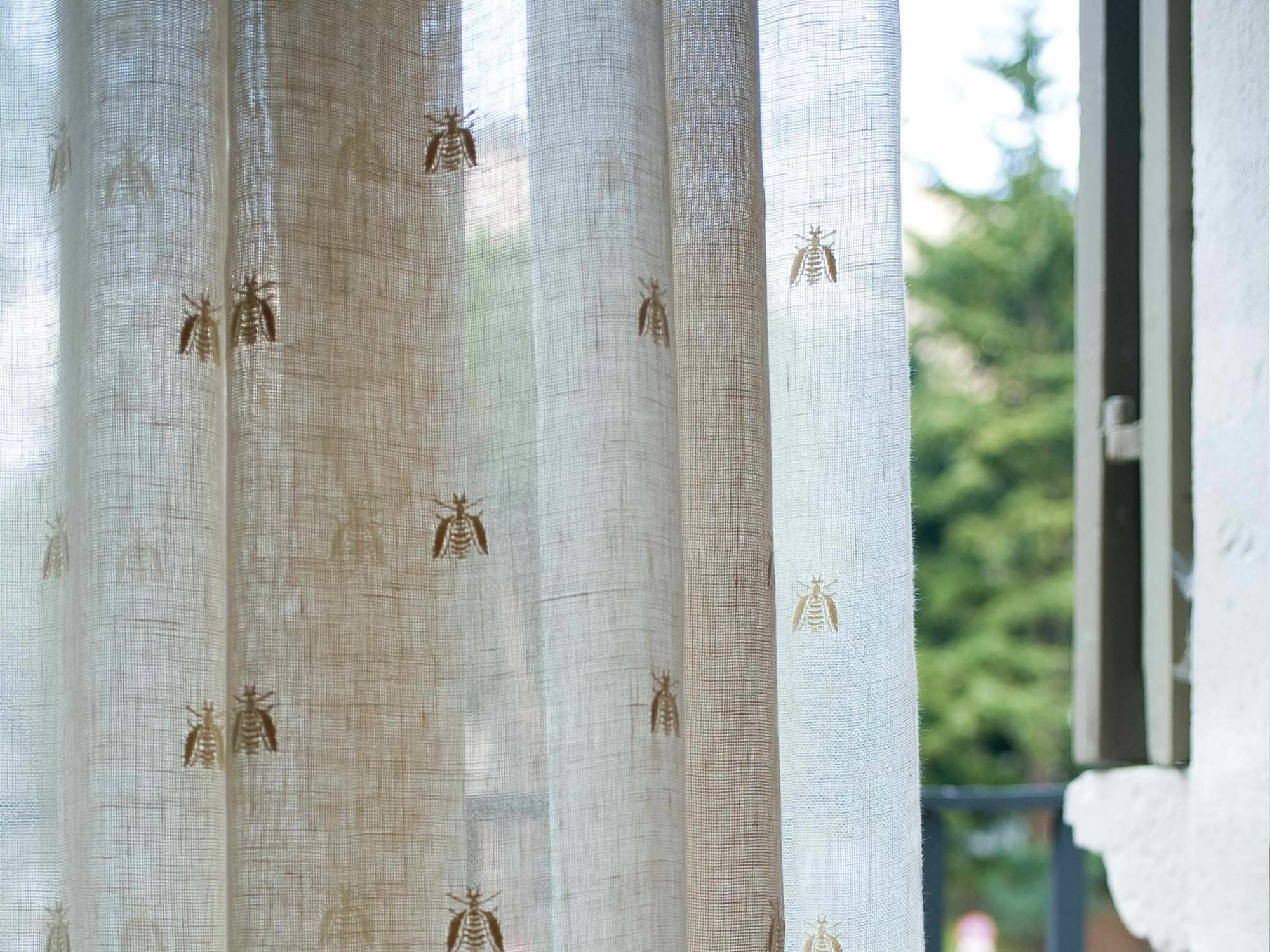 Curtain fabric / patterned / linen BEE ALL OVER MASTRO RAPHAËL