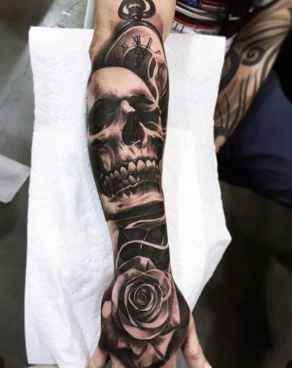 5e39f9ca4 skull hand tattoos | Bucket list | Forearm sleeve tattoos, Tattoo ...