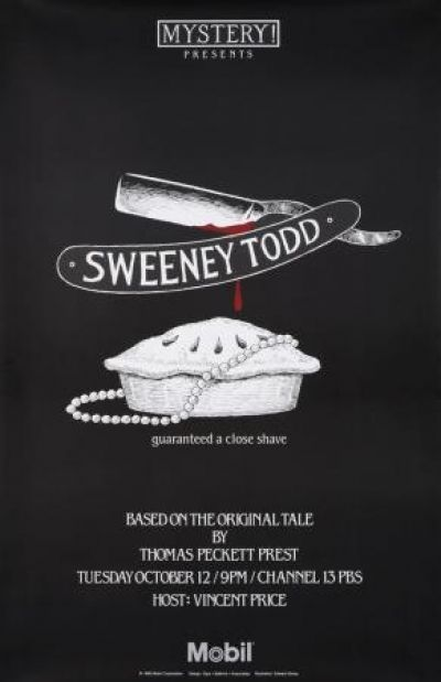 Sweeney Todd Poster Illustrated By Edward Gorey Sweeney