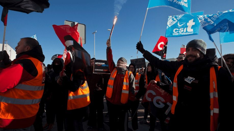Amazon Spain Workers Goes On Two Day Strike Ahead Of Gift Giving