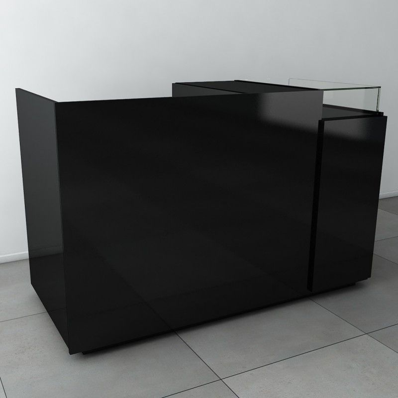 Comptoir caisse, ce meuble caisse en bois est entièrement - meuble de rangement avec tiroir
