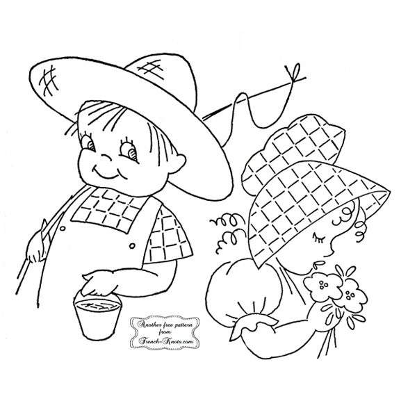 People Embroidery Patterns