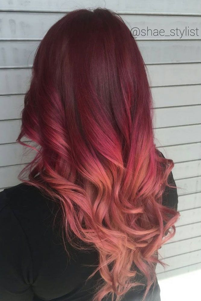63 Best Red Ombre Hair Color Ideas For Long Hair Red Ombre Hair Hair Color Red Ombre Ombre Hair Color