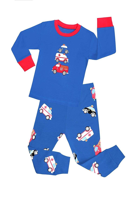 Cartoon Kids Pajamas Outfit Kid Suits Infant Soft Round Neck Sleeve Pajamas