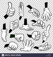 Cartoon Hands With Gloves Icon Set Isolated On Transparent Stock Vector Image Art Alamy In 2020 Drawing Cartoon Characters Vintage Cartoon Cartoon Character Design