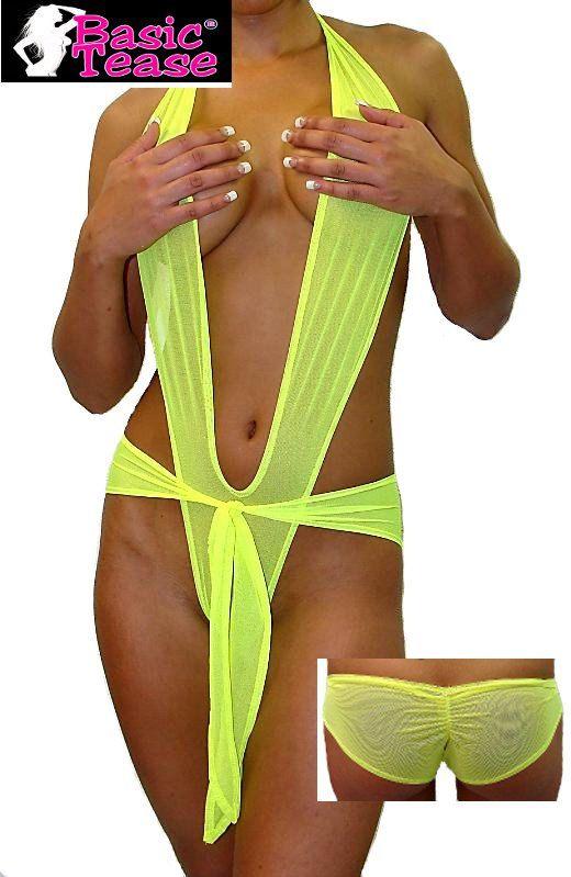 222e59e19 Mesh Wrap Around Stripper Romper For Exotic Dancers.  25.00