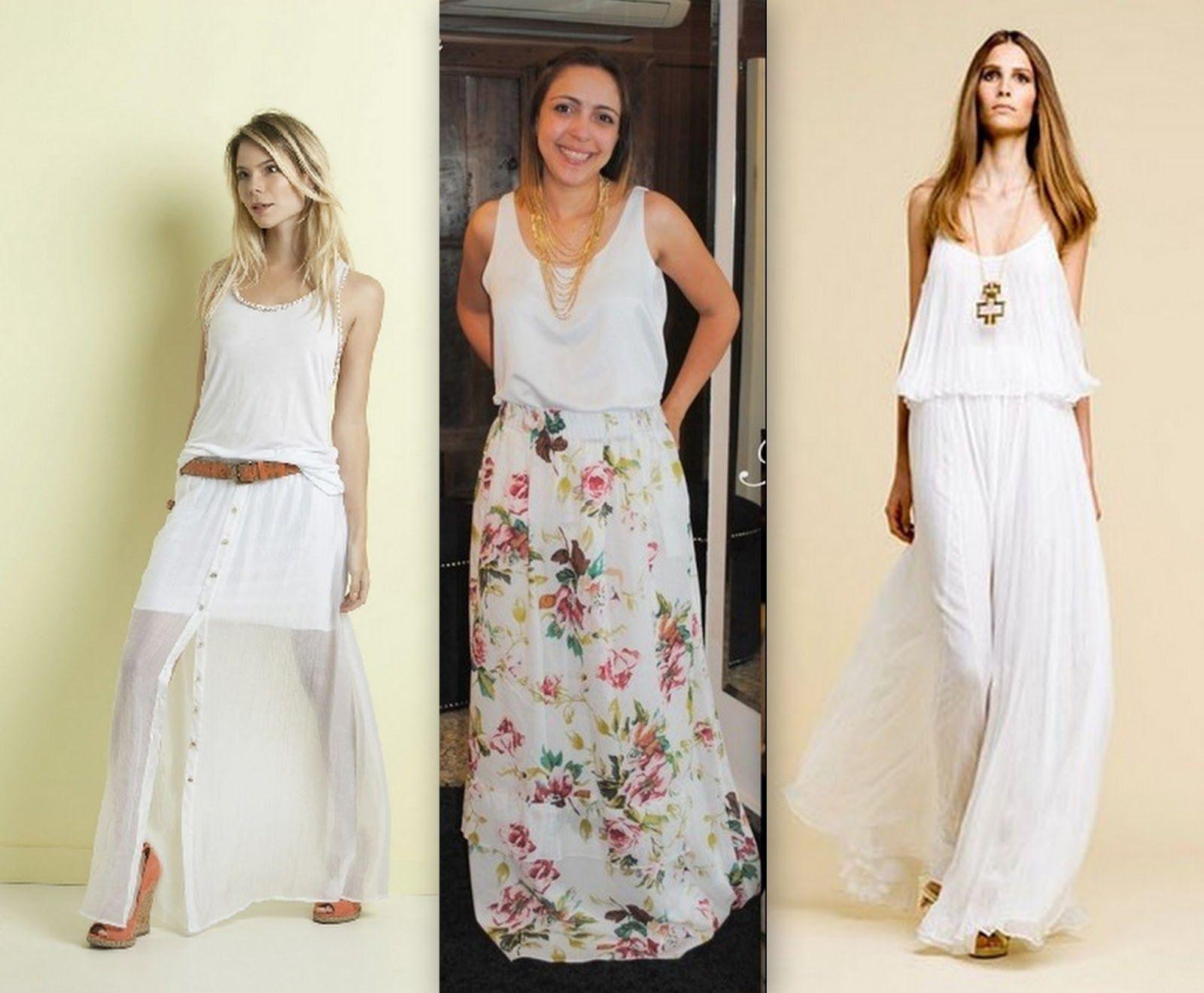 Vestido longo verao branco