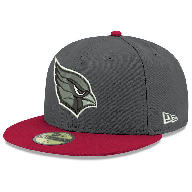 Arizona Cardinals New Era Shader Melt 2 59fifty Fitted Hat Heathered Gray Cardinal