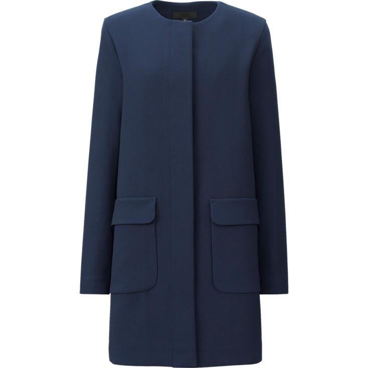 Manteau sans col femme