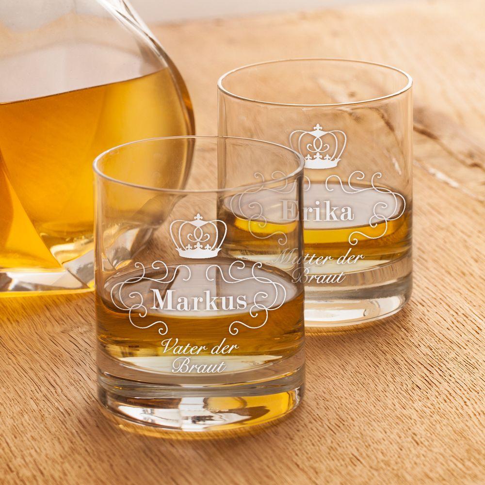 Whiskygläser mit Gravur zur Hochzeit - Eltern der Braut | Pinterest ...