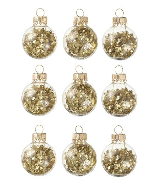 Christmas golden tree globes with stars