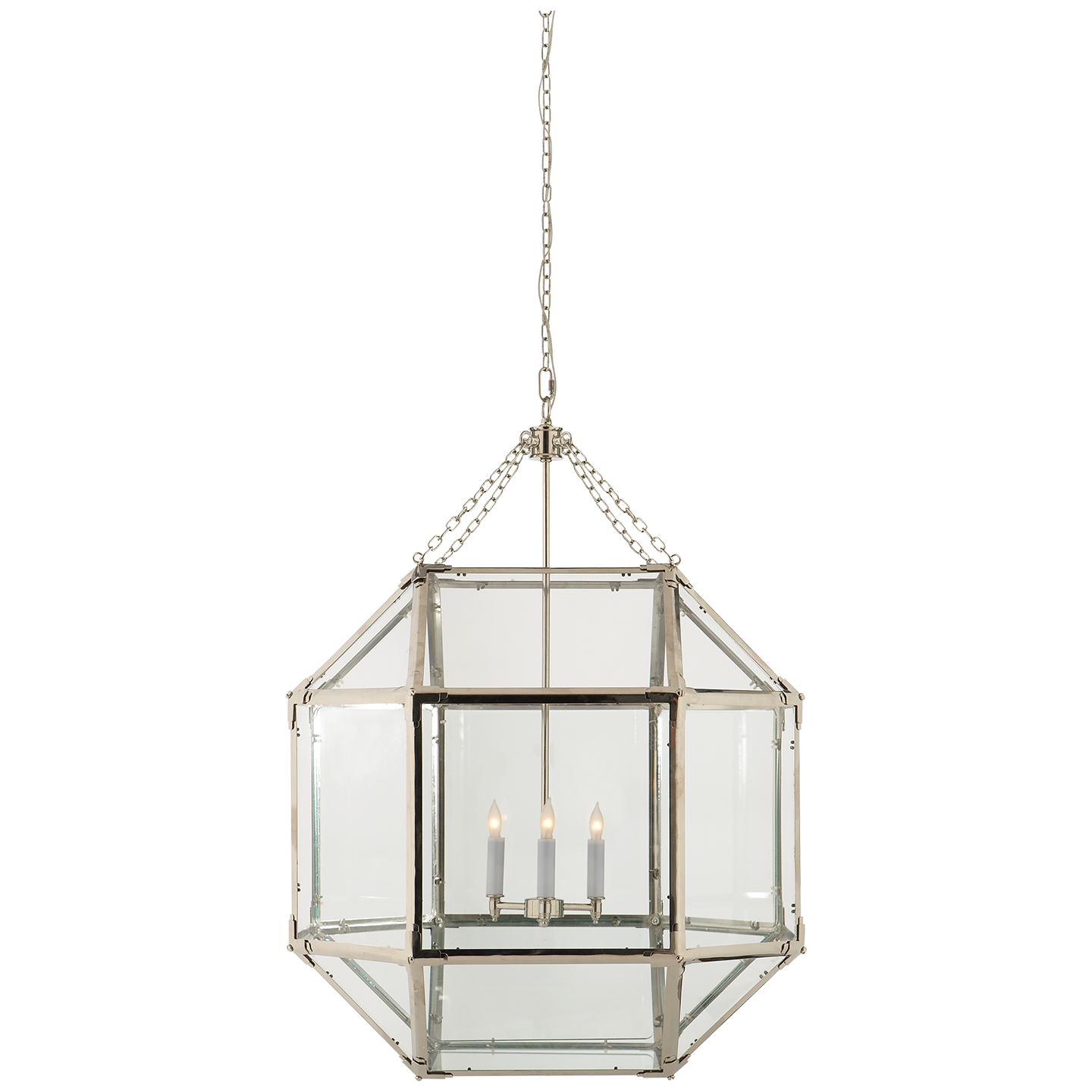 Consider This One Maybe Instead Of The Large Cubist Chandelier In Your Bedroom Large Lanterns Visual Comfort Lighting Ceiling Pendant Lights