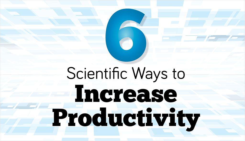 6 Scientific Ways To Increase Productivity Increase Productivity Productivity Time Management Tools