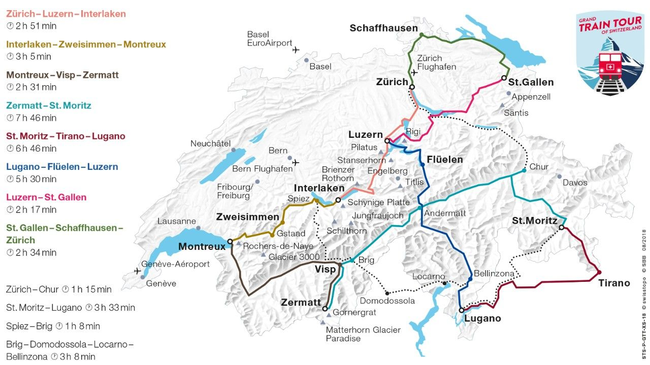 Pin By Susan Thell On Swiss Rail Train Tour Scenic Train Rides
