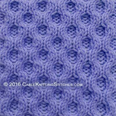 Cable Knitting Stitches » Reversible Honeycomb. Pattern looks ...