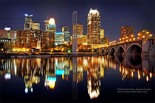 The Most Beautiful Site Minneapolis At Night Minneapolis