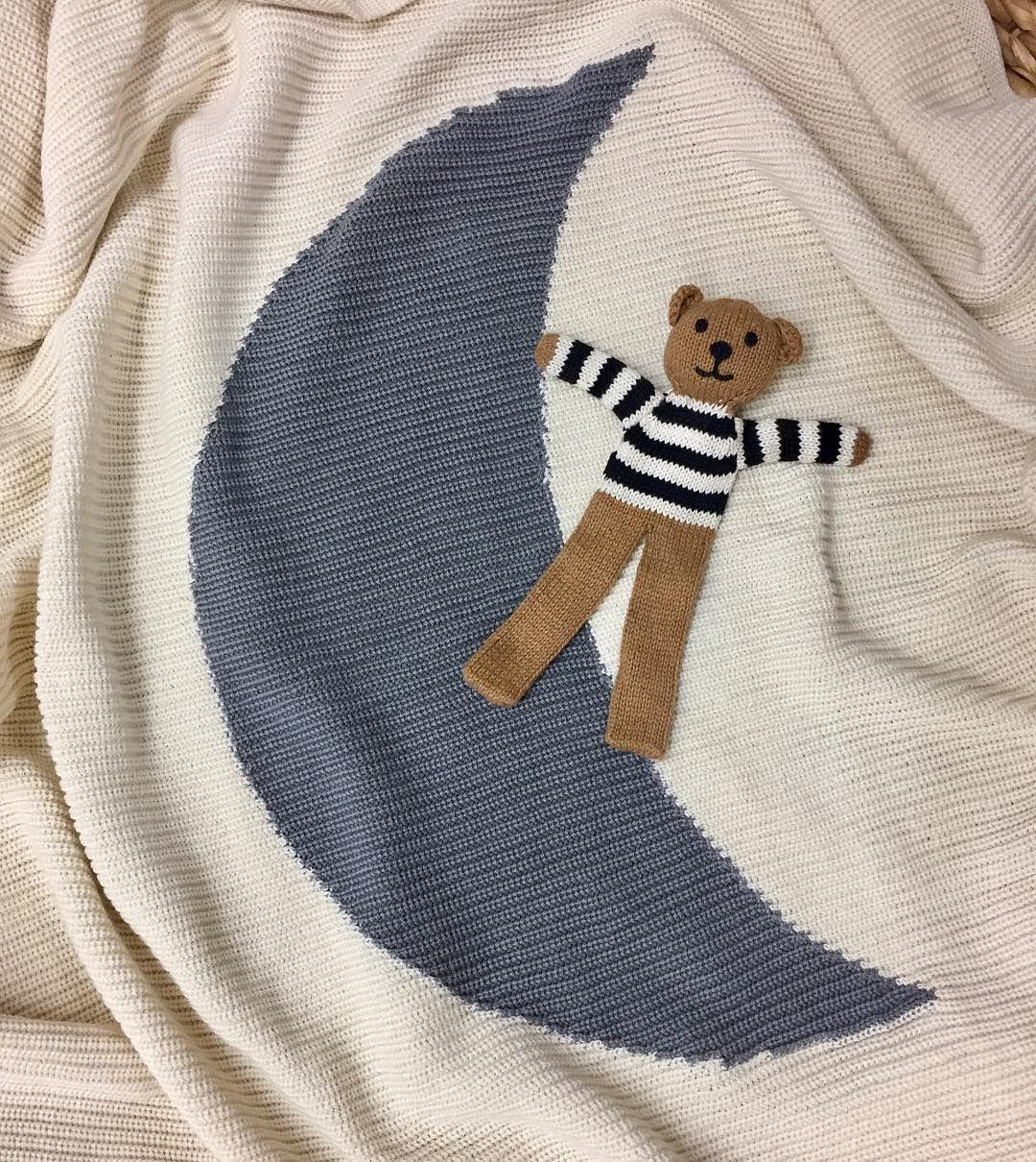 Cotton Baby Blanket Moon Cotton Baby Blankets Cotton Blankets Blanket