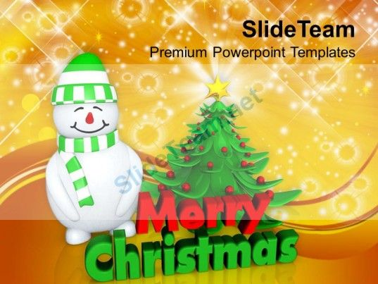 Christmas holiday attractive tree with snowman festival powerpoint christmas holiday attractive tree with snowman festival powerpoint templates ppt backgrounds powerpoint templates toneelgroepblik Images