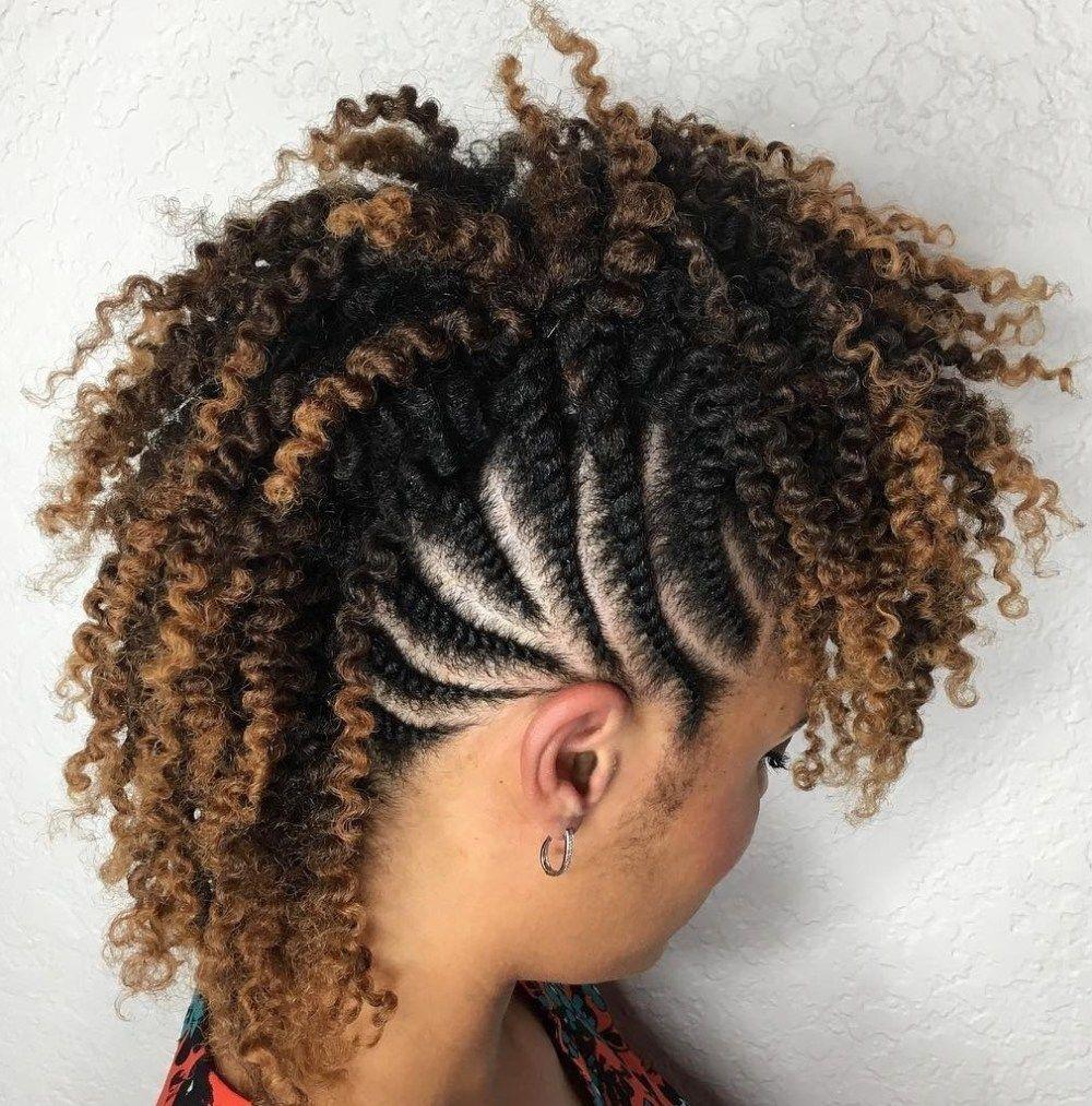 Twist Flat mohawk hairstyles