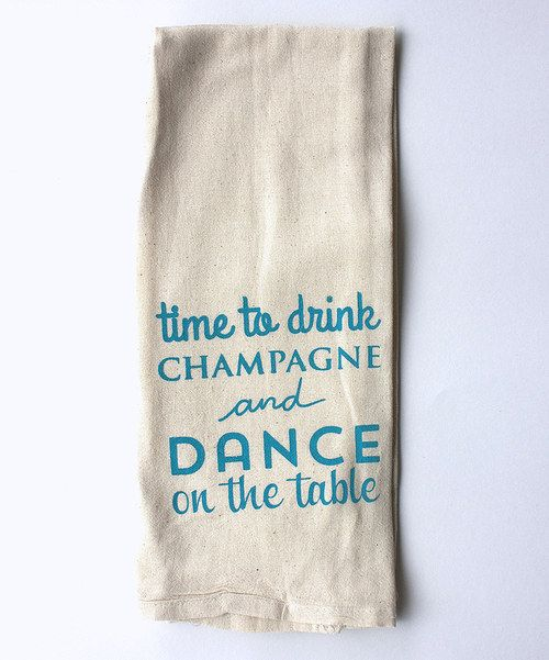 Take a look at the Blue 'Dance' Towel on #zulily today!