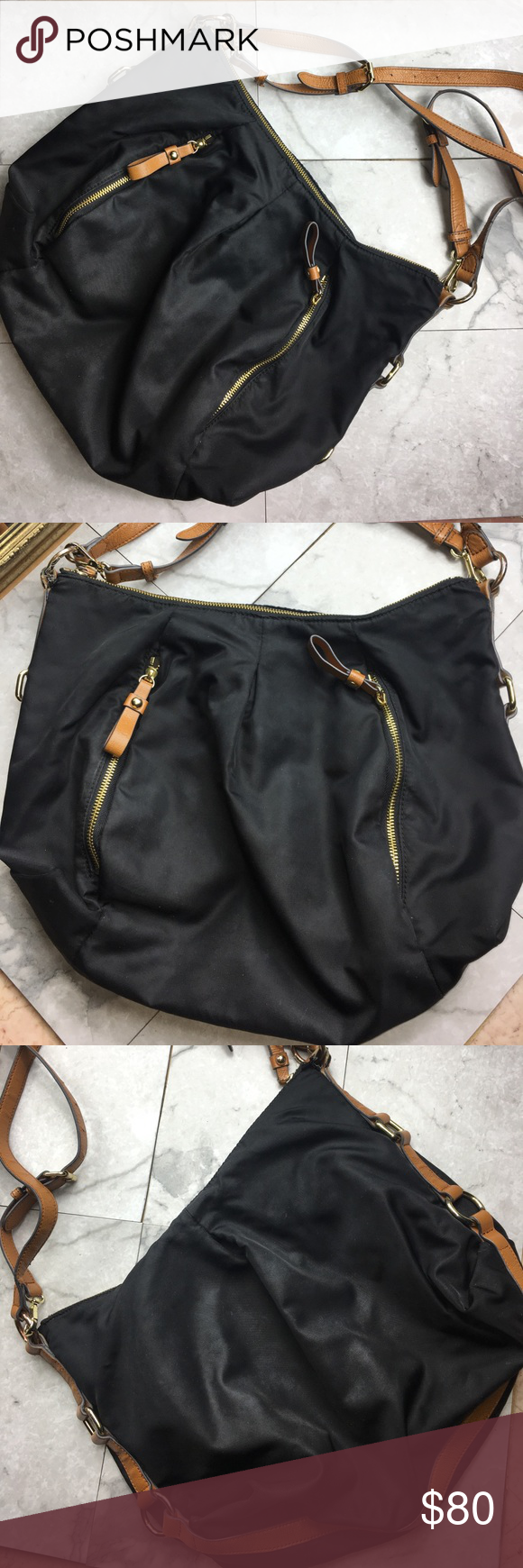 Vince Camuto Hobo Preloved! Interior and exterior lining in good condition. One side of the strap is scuffed! Vince Camuto Bags Hobos