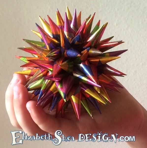 Diy Polish Star Ornament: Handmade Polish Star Ornament, 4 Inches In Diameter, By