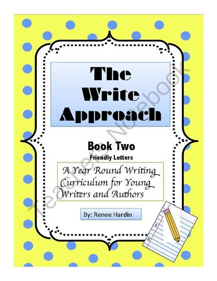 The Write Approach Book Two Friendly Letter Writing from Teach - friendly letter format example