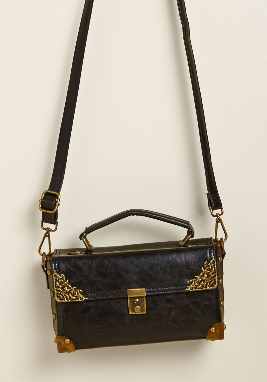 pursesthatlock Black Cross Body Bag 9b25e6955032f