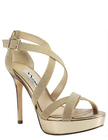For our playful and golden girls the Sevilla platform stiletto sandal gives